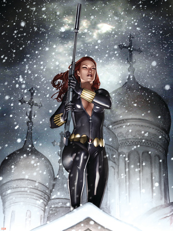 Black Widow: Deadly Origins No.2 Cover: Black Widow Wall Decal by Adi Granov
