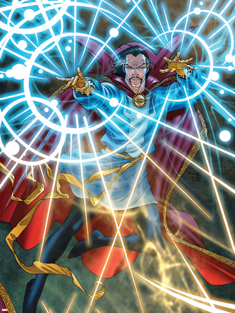 Marvel Adventures Super Heroes No.5 Cover: Dr. Strange Wall Decal by Roger Cruz