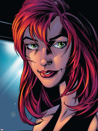 Ultimate Spider-Man No.78 Headshot: Mary Jane Watson Wall Decal by Mark Bagley