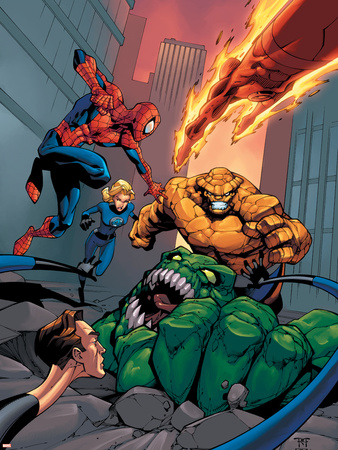 Spider-Man Team-Up Special No.1 Cover: Spider-Man Cartel de plástico por Shane Davis