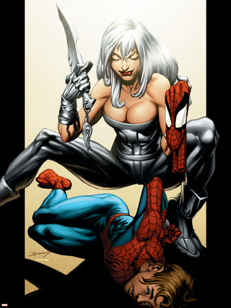 Ultimate Spider-Man No.89 Cover: Spider-Man and Silver Sable Wall Decal by Mark Bagley