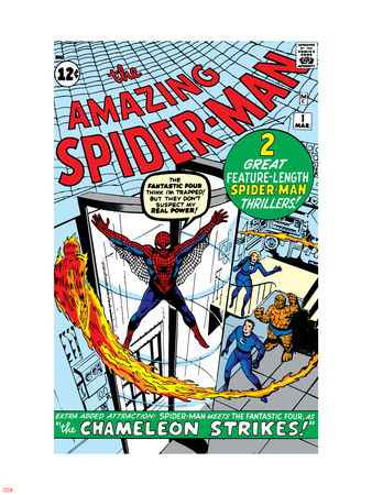 Amazing Spider-Man No.1 Cover: Spider-Man Wall Decal by Steve Ditko