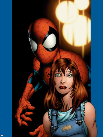 Ultimate Spider-Man No.78 Cover: Mary Jane Watson and Spider-Man Wall Decal by Mark Bagley
