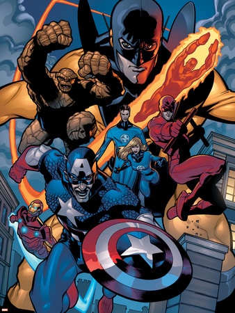 Marvel Knights Spider-Man No.11 Group: Captain America Wall Decal by Terry Dodson
