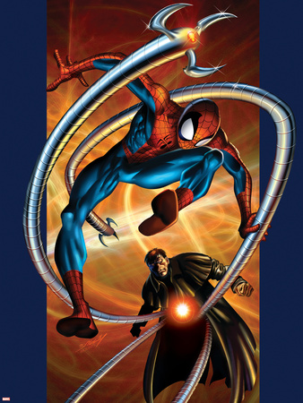 Ultimate Spider-Man No.57 Cover: Spider-Man and Doctor Octopus Wall Decal by Mark Bagley