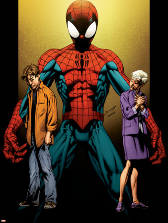 Ultimate Spider-Man No.111 Cover: Spider-Man, Peter and May Parker Wall Decal by Mark Bagley