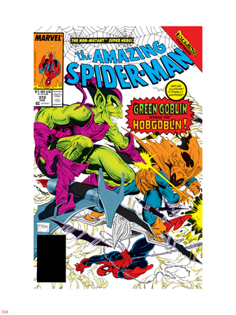 The Amazing Spider-Man No.312 Cover: Spider-Man, Green Goblin and Hobgoblin Wall Decal by Todd McFarlane