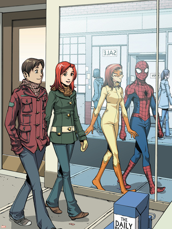 Spider-Man Loves Mary Jane No.18 Cover: Spider-Man Plastic Sign by David Hahn