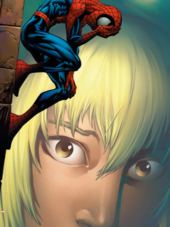 Ultimate Spider-Man No.65 Cover: Spider-Man, Stacy and Gwen Fighting Wall Decal by Mark Bagley