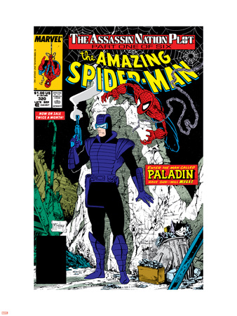 Amazing Spider-Man No.320 Cover: Spider-Man and Paladin Wall Decal by Todd McFarlane