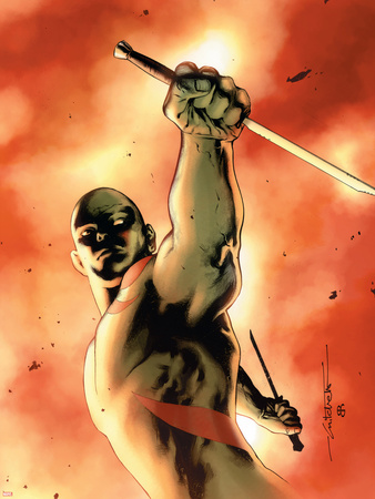 Drax The Destroyer No.3 Cover: Drax The Destroyer Fighting Plastic Sign by Mitchell Breitweiser