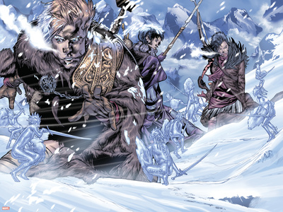 Thor Son Of Asgard No.3 Group: Thor, Sif and Balder Wall Decal by Greg Tocchini