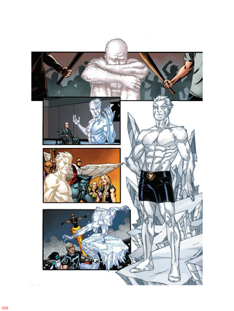 Origins of Marvel Comics: X-Men No.1: Iceman Standing Wall Decal by Pablo Raimondi