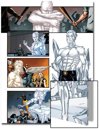 Origins of Marvel Comics: X-Men No.1: Iceman Standing Print by Pablo Raimondi