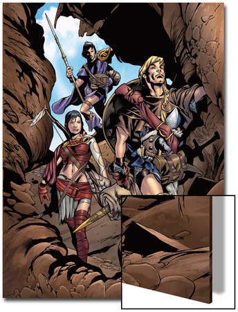Thor Son Of Asgard No.2 Group: Thor, Sif and Balder Fighting Prints by Greg Tocchini