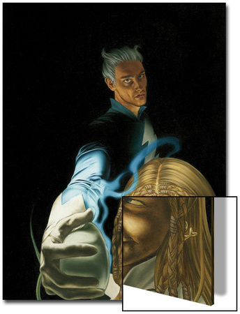 Son On M No.4 Cover: Quicksilver and Luna Poster by Roy Allan Martinez