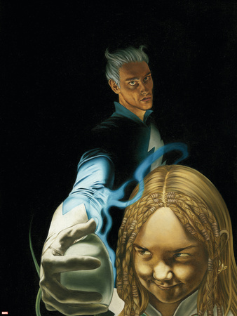 Son On M No.4 Cover: Quicksilver and Luna Wall Decal by Roy Allan Martinez