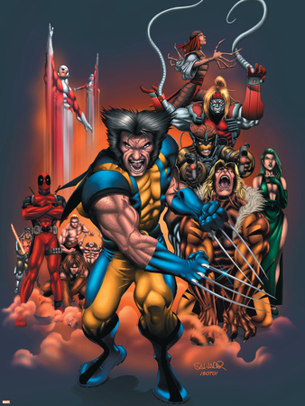 The Official Handbook Of The Marvel Universe: Wolverine 2004 Cover: Wolverine Wall Decal by Salvador Larroca