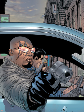 District X No.1 Cover: Bishop Fighting Plastic Sign by Steve MCNiven