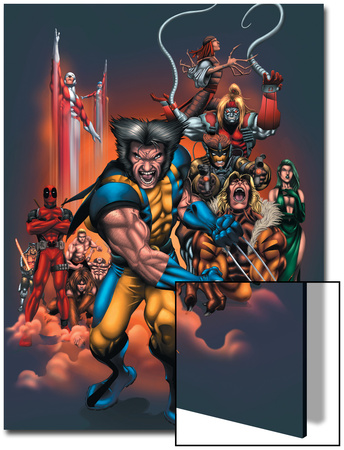 The Official Handbook Of The Marvel Universe: Wolverine 2004 Cover: Wolverine Poster by Salvador Larroca