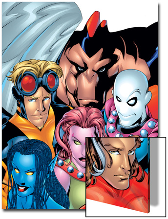 Exiles No.1 Cover: Blink, Morph, Thunderbird, Mimic, Magnus and Nocturne Prints by Mike McKone
