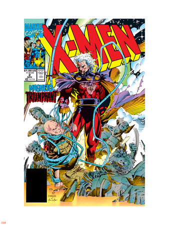 X-Men No.2 Cover: Magneto and Professor X Wall Decal by Jim Lee