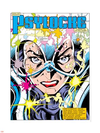 The Uncanny X-Men No.213 Headshot: Psylocke and Cerebro Wall Decal by Alan Davis