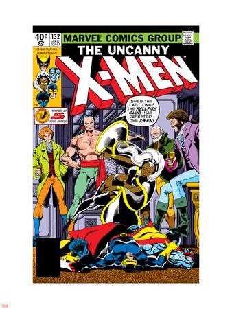 Uncanny X-Men No.132 Cover: Shaw, Sebastian, Wyngarde, Jason, Storm and Hellfire Club Wall Decal by John Byrne