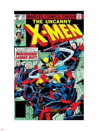 Uncanny X-Men No.133 Cover: Wolverine and Hellfire Club Wall Decal by John Byrne