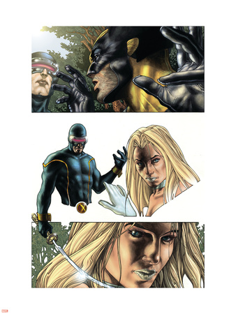 Wolverine No.55 Headshot: Cyclops, Wolverine and Emma Frost Wall Decal by Simone Bianchi