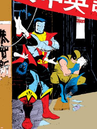 Classic X-Men No.23: Wolverine, Nightcrawler and Colossus Wall Decal by Mark Chiarello