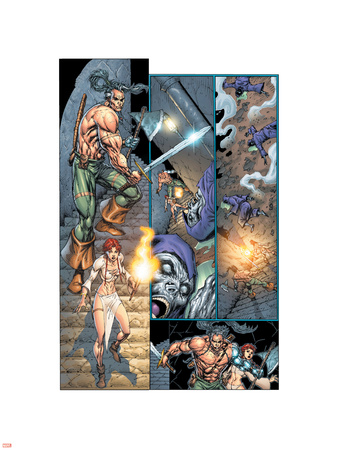 X-Force No.1 Cover: Traveller and DNarda Wall Decal by Rob Liefeld