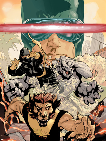 Young X-Men No.3 Cover: Cyclops, Rockslide and Dust Wall Decal by Terry Dodson