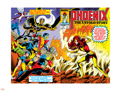 Phoenix: The Untold Story No.1 Cover: Grey Plastic Sign by John Byrne