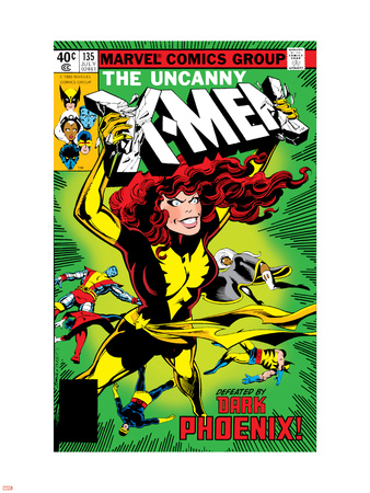Uncanny X-Men No.135 Cover: Grey, Jean, Colossus, Wolverine, Storm, Cyclops, Dark Phoenix and X-Men Wall Decal by John Byrne