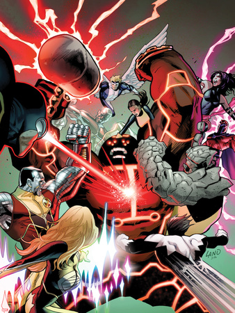 Uncanny X-Men No.541: Juggernaut, Colossus, Psylocke, Pryde, Kitty, Iceman, Angel, Magneto & Others Wall Decal by Greg Land