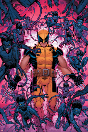 Wolverine and the X-Men 32 Cover: Wolverine, Bamfs Wall Decal by Nick Bradshaw