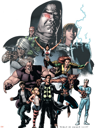 X-Factor No.23 Cover: Madrox, Wolfsbane, Miller, Layla, Siryn and Quicksilver Wall Decal by Pablo Raimondi