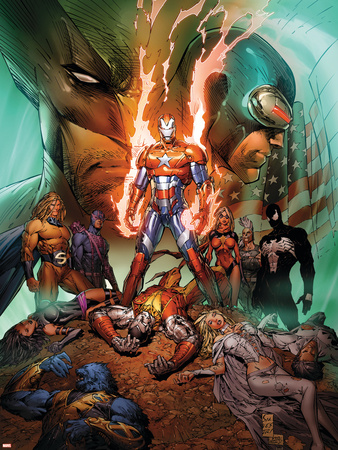 Dark Avengers/Uncanny X-Men: Utopia No.1 Cover: Iron Patriot Plastic Sign by Marc Silvestri