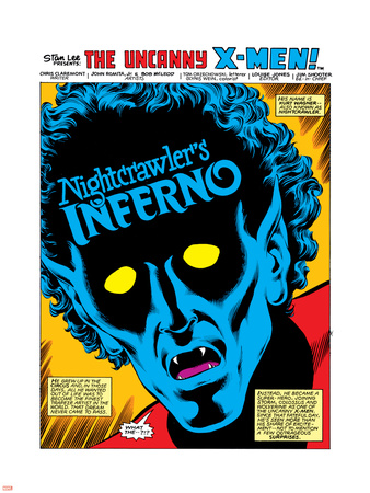 Uncanny X-Men Annual No.4 Headshot: Nightcrawler Plastic Sign by John Romita Jr.