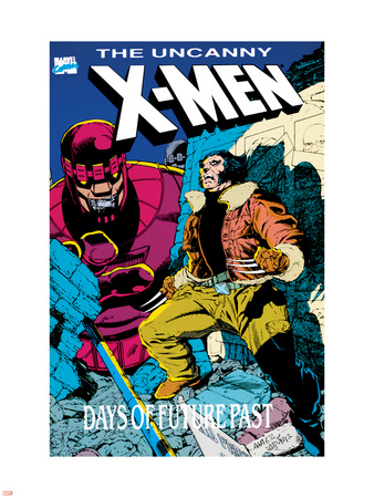 X-Men : Days Of Future Past Cove Cover: Wolverine and Sentinel Plastic Sign by Jackson Guice