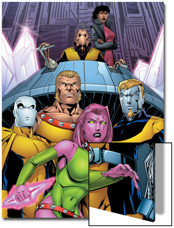 Exiles No.66 Cover: Blink, Sabretooth, Mimic, Morph and Exiles Posters by James Calafiore
