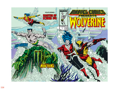 Marvel Comics Presents No.7 Cover: Spider-Man, Vulture and Kraven the Hunter Swimming Plastic Sign by John Buscema