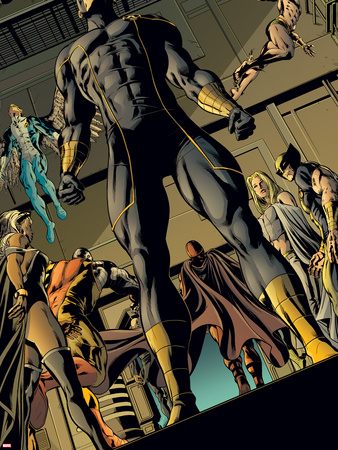 X-Men: Prelude to Schism No.3: Cyclops Standing with Others Behind Him Plastic Sign by Will Conrad