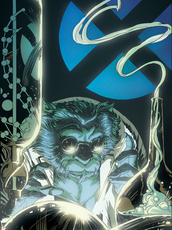 X-Men Unlimited No.10 Cover: Beast Fighting Plastic Sign by Paul Smith!