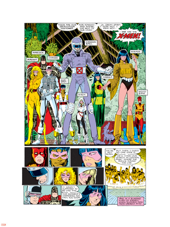 X-Men Annual No.10 Group: Warlock, Sunspot, Cannonball, Cypher, Magma, Magik and New Mutants Plastic Sign by Arthur Adams