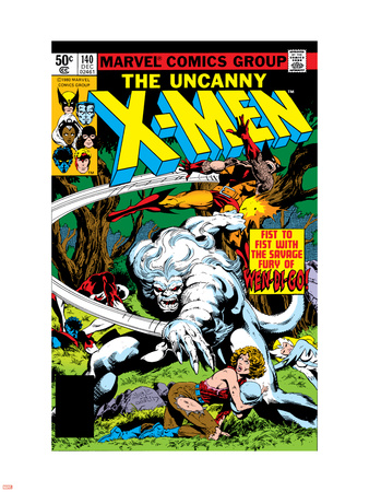 Uncanny X-Men No.140 Cover: Wolverine and Wendigo Plastic Sign by John Byrne
