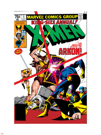 X-Men Annual No.3 Cover: Cyclops, Arkon and X-Men Plastic Sign by Frank Miller