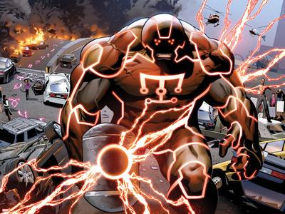 Uncanny X-Men No.540: Juggernaut with a Hammer Plastic Sign by Greg Land
