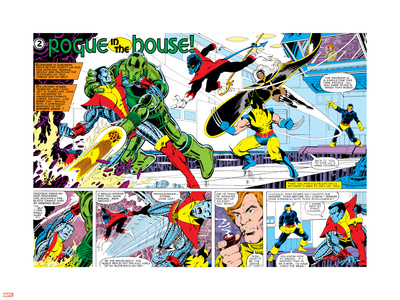 X-Men Annual No.3 Group: Colossus, Nightcrawler, Wolverine, Storm, Cyclops and X-Men Plastic Sign by George Perez
